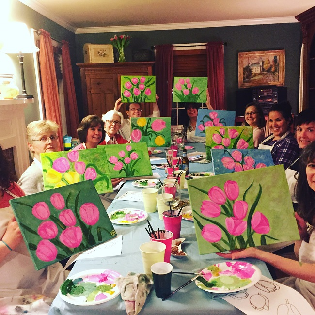 birthday painting party essex