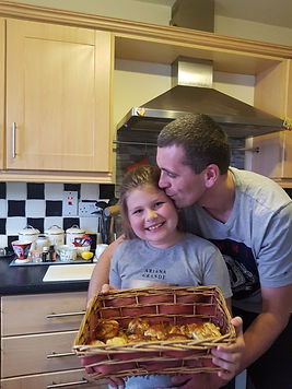 Samanta (2nd Class) & Dad baking.jpg