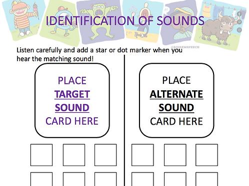 Identification of Sounds - Freebie