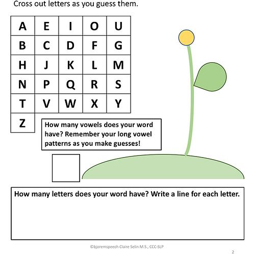 Flower-Power Spelling Activity - Freebie