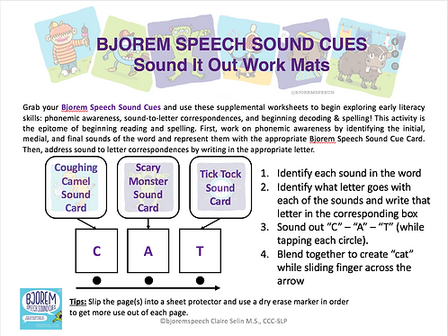 Sound It Out Workmat - Freebie