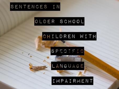 Complex Sentence Intervention