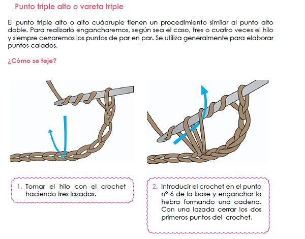 Punto Vareta Triple - Crochet