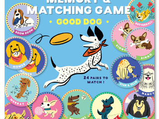 eeBoo Good Dog Memory Game