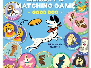 eeBoo Good Dog Memory Game