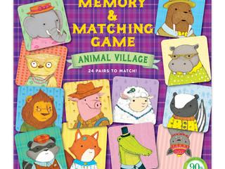 eeBoo Memory and Matching Game: Animal Village