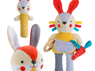 Petit Collage Bunny Organic Soft Toys