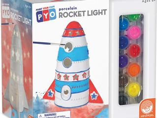 Paint Your Own Porcelain Light: Rocket