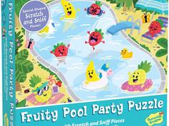 Peaceable Kingdom Fruity Pool Party Puzzle