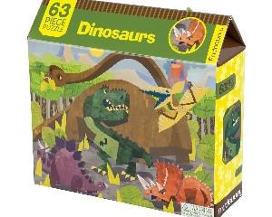 Mudpuppy Dinosaur 63 Piece Puzzle
