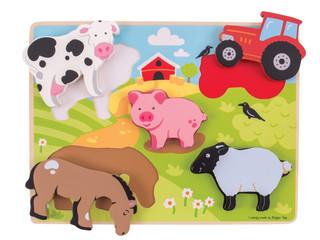 BigJigs Chunky Puzzle-Farm