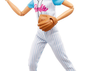 Mattel Barbie Baseball Player Made-to- Move