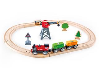 Hape Cargo Delivery Loop Train Set