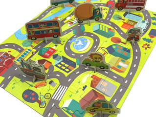 Mudpuppy Around the Town Puzzle