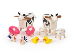 Big Jigs Tidlo Wooden Farm Animals Set