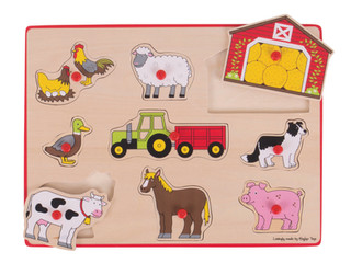 BigJigs Lift Out Puzzles: Farm and Transportation