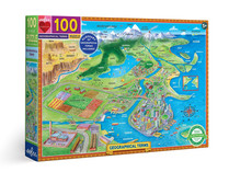 eeboo Glossary of Geographical Terms 100 Piece Puzzle