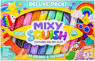 Mixy Squish Deluxe Texture Air Dry Clay Kit