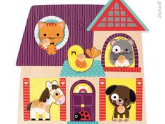Janod Animal Musical Puzzle