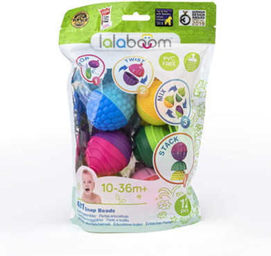 Lalaboom 12 Piece Baby Toddler Beads
