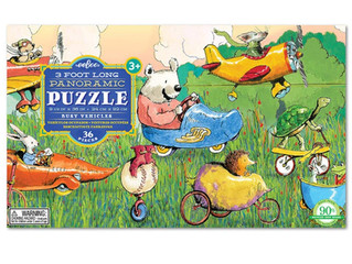 eeBoo Busy Vehicles Panoramic Puzzle