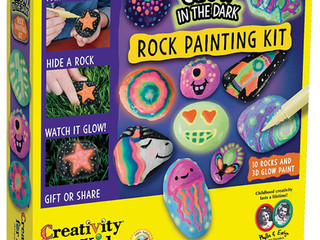 Creativity for Kids Glow-in-the-Dark Rock Painting Kit