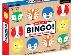 Mudpuppy Geometric Animals My First Bingo