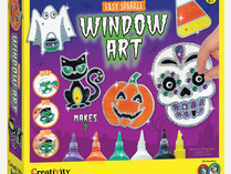 Creativity for Kids Window Art Easy Sparkle Halloween