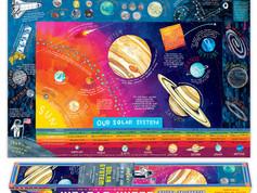 eeBoo Decorative Glow-in-the-Dark Solar System Poster