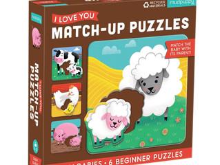 Mudpuppy Farm Babies Match-up Puzzles