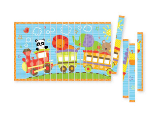 C. R. Gibson Gibby & Libby All Aboard Stick Puzzle