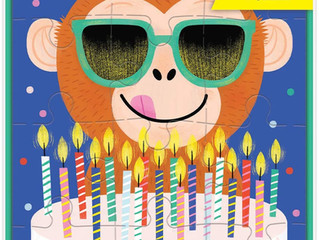 Mudpuppy Monkey Cake Greeting Card Puzzle