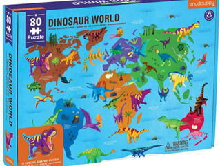Mudpuppy Dinosaur World 80-Piece Puzzle