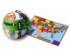 USA Map 100 Piece Puzzle