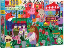 eeboo Green Market 100 Piece Puzzle
