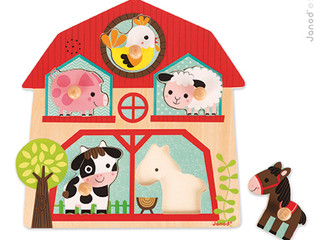 Janod Farm Musical Puzzles knobs