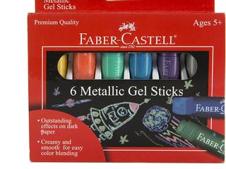 Faber-Castell 6 Metallic Gel Sticks