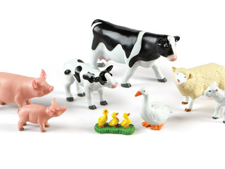 Learning Resources Jumbo Farm Animals Mommas and Babies Set