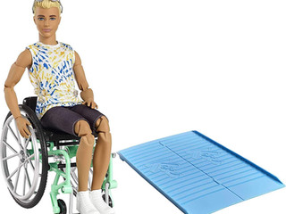 Barbie and Ken Fashionistas Dolls  with Wheelchair & Ramp