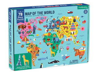 Mudpuppy Map of The World Geography Puzzle