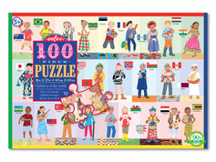 eeBoo Children of the World 100-Piece Puzzle
