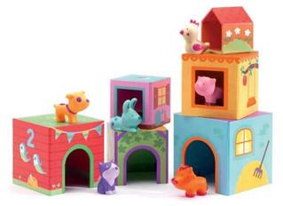 Djeco Topanifarm Stackable Cubes
