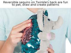 Creativity for Kids Twinkles The Elephant & Speedy the Sloth Stuffed Animals