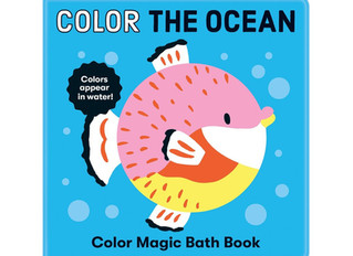 Mudpuppy Color the Ocean Color Magic Bath Book