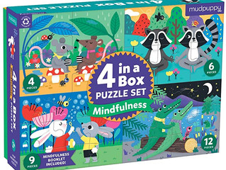 Mudpuppy Mindfulness 4-in-a-Box Puzzle Set