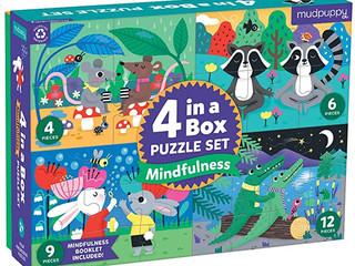 Mudpuppy Mindfulness 4-in-a-Box Puzzle Set