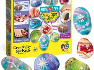 Creativity for Kids Hide and Seek Paint, Pour Rocks