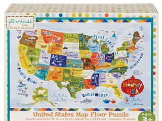C.R. Gibson United States Map Floor Puzzle