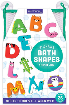 Mudpuppy Animal ABC Bath Shapes