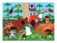 Mudpuppy Woodland Fuzzy 42-piece Puzzle
